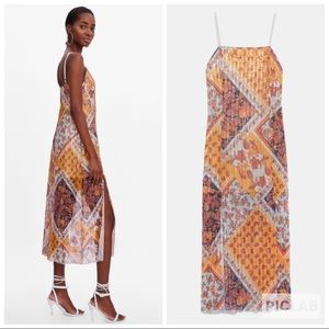 Zara Printed Dress with Sequins, paisley, floral